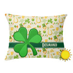 St. Patrick's Day Outdoor Throw Pillow (Rectangular) (Personalized)