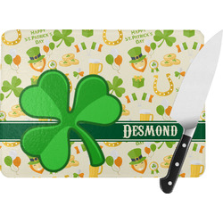 St. Patrick's Day Rectangular Glass Cutting Board (Personalized)