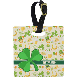 St. Patrick's Day Square Luggage Tag (Personalized)