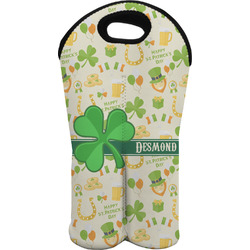 St. Patrick's Day Wine Tote Bag (2 Bottles) (Personalized)