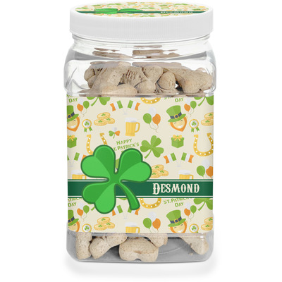St. Patrick's Day Dog Treat Jar (Personalized)