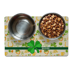 St. Patrick's Day Pet Bowl Mat (Personalized)