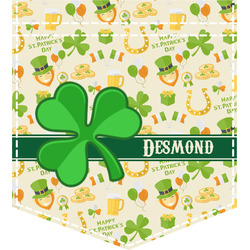St. Patrick's Day Iron On Faux Pocket (Personalized)