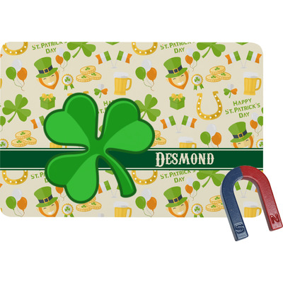 St. Patrick's Day Rectangular Fridge Magnet (Personalized)