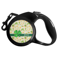 St. Patrick's Day Retractable Dog Leash - Multiple Sizes (Personalized)