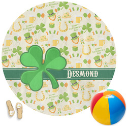 St. Patrick's Day Round Beach Towel (Personalized)