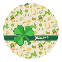 St. Patrick's Day Round Decal (Personalized)
