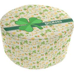 St. Patrick's Day Round Pouf Ottoman (Personalized)