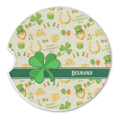 St. Patrick's Day Sandstone Car Coasters (Personalized)