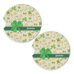 St. Patrick's Day Sandstone Car Coasters - Set of 2 (Personalized)
