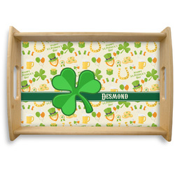 St. Patrick's Day Natural Wooden Tray (Personalized)