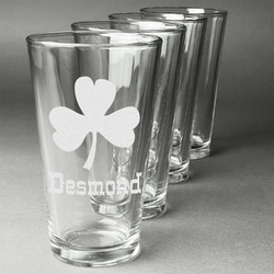 St. Patrick's Day Beer Glasses (Set of 4) (Personalized)