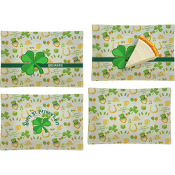 St. Patrick's Day Set of 4 Glass Rectangular Appetizer / Dessert Plate (Personalized)