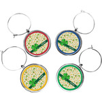St. Patrick's Day Wine Charms (Set of 4) (Personalized)