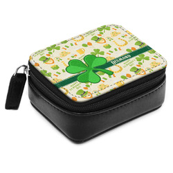 St. Patrick's Day Small Leatherette Travel Pill Case (Personalized)