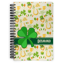 St. Patrick's Day Spiral Bound Notebook (Personalized)