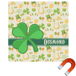 St. Patrick's Day Square Car Magnet (Personalized)