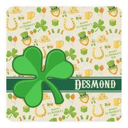 St. Patrick's Day Square Decal - Large (Personalized)