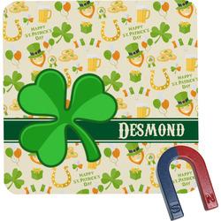 St. Patrick's Day Square Fridge Magnet (Personalized)