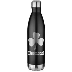 St. Patrick's Day Water Bottle - 26 oz. Stainless Steel (Personalized)