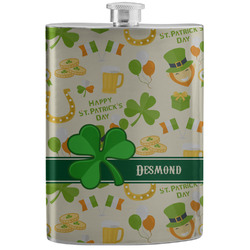 St. Patrick's Day Stainless Steel Flask (Personalized)