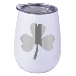St. Patrick's Day Stemless Wine Tumbler - 5 Color Choices - Stainless Steel  (Personalized)