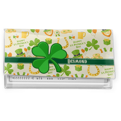 St. Patrick's Day Vinyl Checkbook Cover (Personalized)