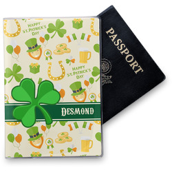 St. Patrick's Day Vinyl Passport Holder (Personalized)