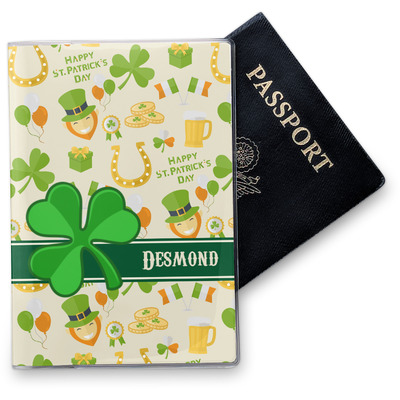 St. Patrick's Day Vinyl Passport Holder (Personalized)