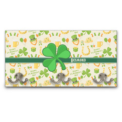 St. Patrick's Day Wall Mounted Coat Rack (Personalized)