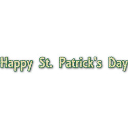 St. Patrick's Day Name/Text Decal - Large (Personalized)