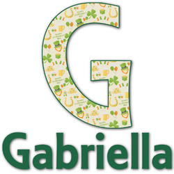 St. Patrick's Day Name & Initial Decal - Custom Sized (Personalized)