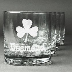 St. Patrick's Day Whiskey Glasses (Set of 4) (Personalized)
