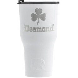 St. Patrick's Day RTIC Tumbler - White - Engraved Front (Personalized)