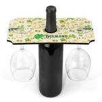 St. Patrick's Day Wine Bottle & Glass Holder (Personalized)