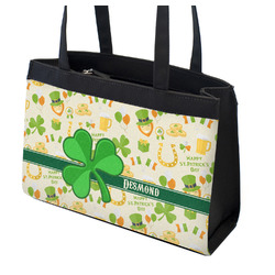 St. Patrick's Day Zippered Everyday Tote w/ Name or Text