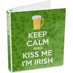 Kiss Me I'm Irish 3-Ring Binder (Personalized)