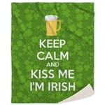 Kiss Me I'm Irish Sherpa Throw Blanket (Personalized)