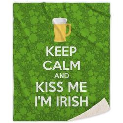 Kiss Me I'm Irish Sherpa Throw Blanket (Personalized)