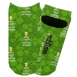 Kiss Me I'm Irish Adult Ankle Socks (Personalized)