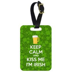 Kiss Me I'm Irish Aluminum Luggage Tag (Personalized)