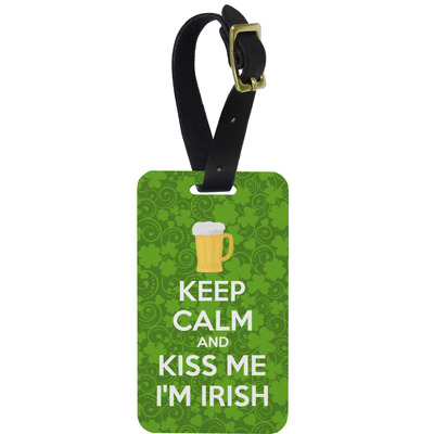 Kiss Me I'm Irish Metal Luggage Tag