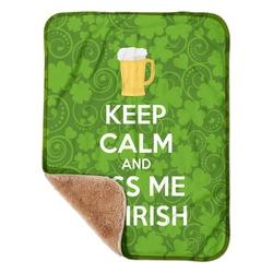 "Kiss Me I'm Irish Sherpa Baby Blanket 30"" x 40"" (Personalized)"