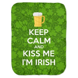Kiss Me I'm Irish Baby Swaddling Blanket (Personalized)