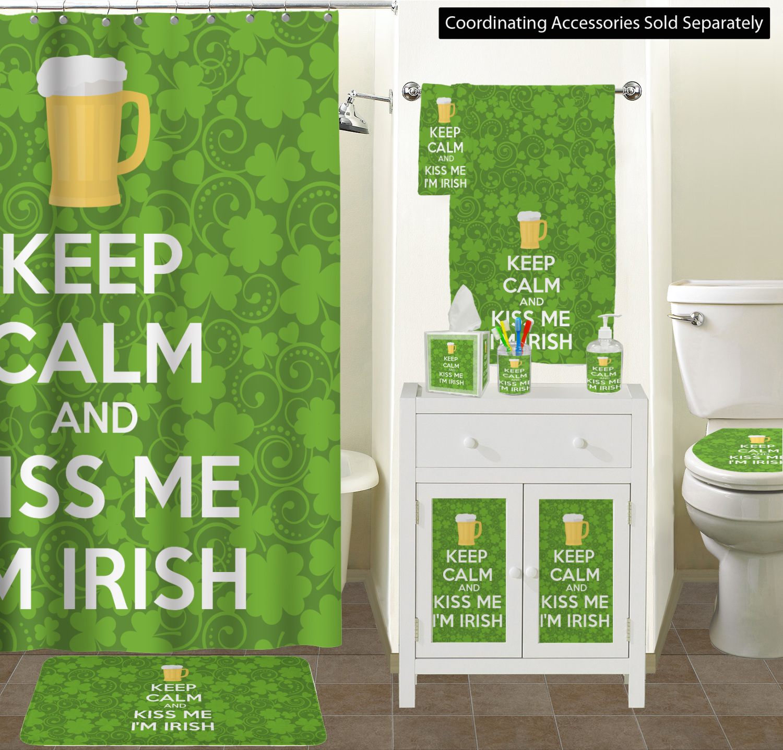 Shower Curtain Sizes Kiss Me Im Irish Bathroom Scene