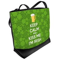 Kiss Me I'm Irish Beach Tote Bag (Personalized)