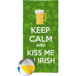 Kiss Me I'm Irish Beach Towel (Personalized)