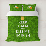 Kiss Me I'm Irish Duvet Cover