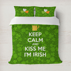 Kiss Me I'm Irish Duvet Covers (Personalized)