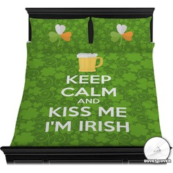 Kiss Me I'm Irish Duvet Cover Set (Personalized)